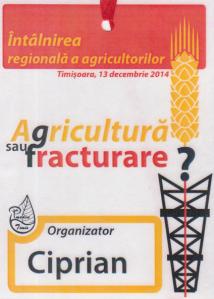 agricultura sau fracturare